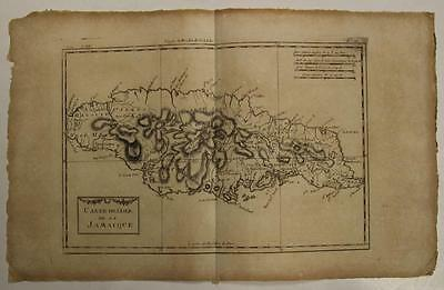 Jamaica Greater Antilles 1780 Bonne/raynal Antique Copper Engraved Map