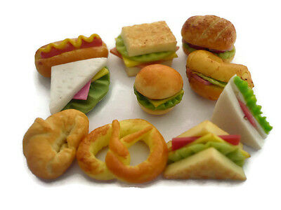 10 Loose Mix Bread Dollhouse Miniatures Food Bakery Supply Deco