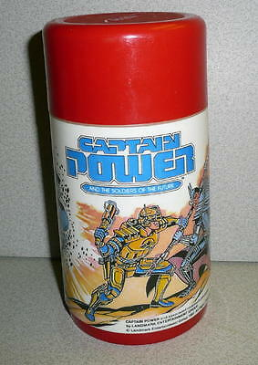 Aladdin 1987 CAPTAIN POWER And The Soldiers Of The Future Plastic Thermos