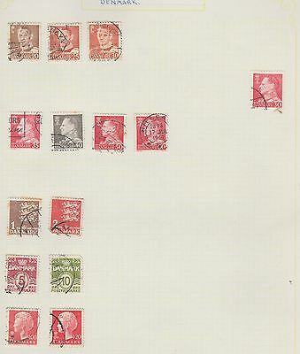 DENMARK Assorted on Old Book Pages (removed to send) #