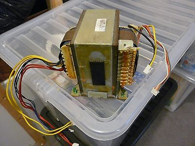 Giant mains transformer from high power audio amplifier.