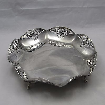 VINTAGE SOLID SILVER FOOTED DISH CENTREPIECE FRUIT BOWL SHEFFIELD 1939 322g