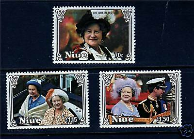 Niue 1985 Life & Times Queen Mother SG587/9 MNH