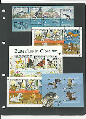 Trade Price Stamps Gibraltar Mini Sheets Unmounted Mint