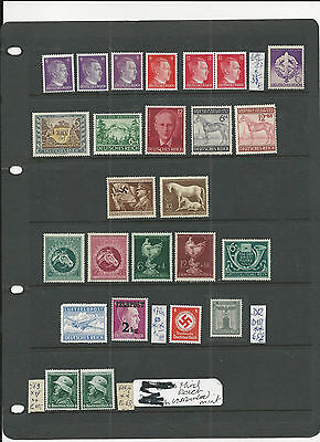 Trade Price Stamps Germany Third Reich Unmounted Mint Stamps