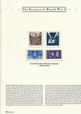 The History Of World War 2 Stamps On Page, Mint Stamps