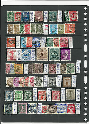 Trade Price Stamps Germany Third Reich & Earlier On Page Used