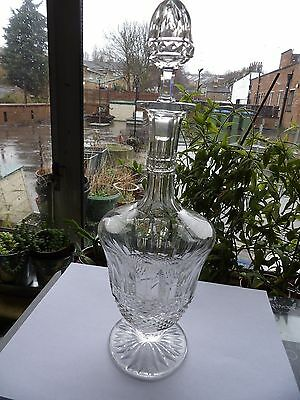 St Louis Crystal Small Wine Decanter In The Vintage Tommy Pattern 13 Inch Rare