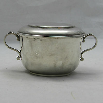 Carrington & Co Late Victorian Silver Porringer And Lid London 1900