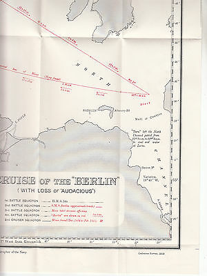 WW1 Map - Cruise of The SMS Berlin (with loss of 'Audacious')