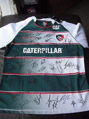 leicester tigers signed shirt - brand new with tag - size large - brand kooga