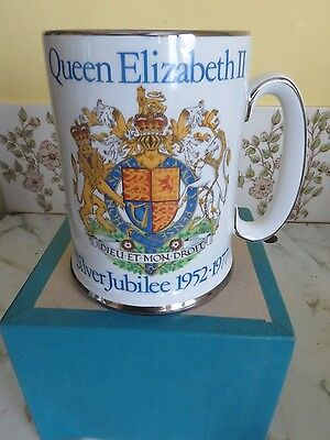 Queen's Silver Jubilee Tankard by Wood and Sons