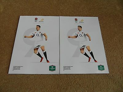 2 X New England v Australia Old Mutual Series Rugby Union Programme's 3/12/2016