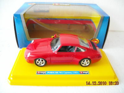 Porsche 911 Carrera Rossa Scala 1:24 Bburago Made In Italy
