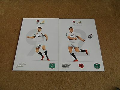 2 X New England Old Mutual Series Rugby Union Programme's