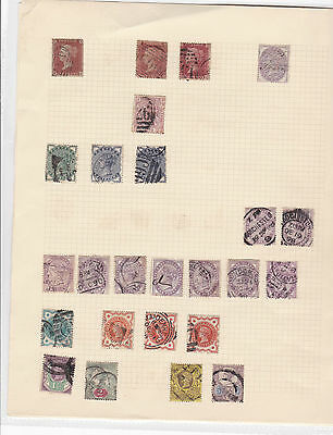 Queen Victoria Stamps On Old Album Page 1 And 2