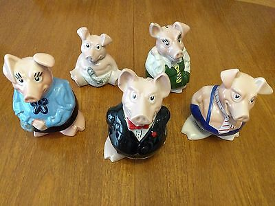 Original Wade Natwest Pigs Money Bank - Full Complete Set of 5