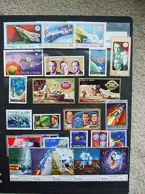A Page of Space stamps From different countries