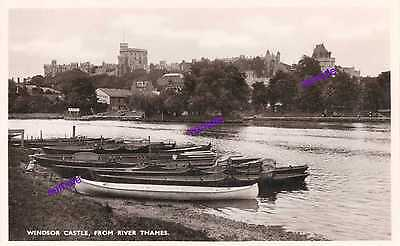 Old Row Boats,For Hire Vintage River Thames1960s,Windsor Castle, Not Posted