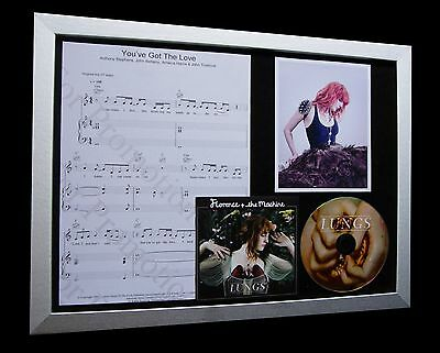FLORENCE AND MACHINE You've Got The Love LTD Nod CD MUSIC QUALITY FRAMED DISPLAY