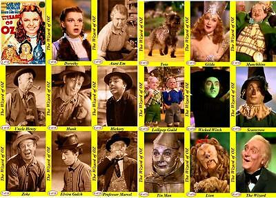The Wizard of OZ movie trading cards Judy Garland