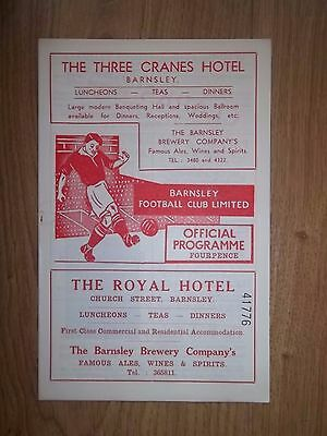 1958 Barnsley v Sheffield Wednesday Football Programme