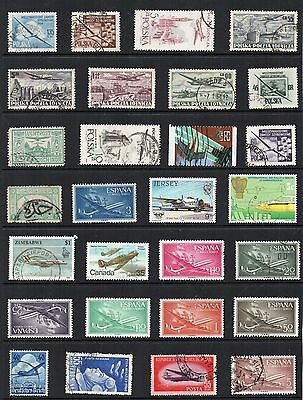 AIRCRAFT AVIATION  Thematic STAMP Collection MINT USED Ref:TS121