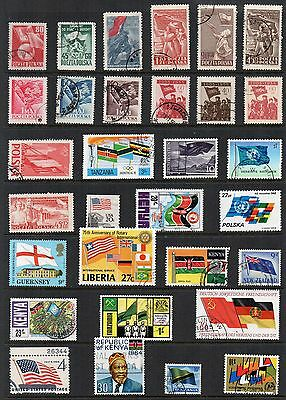 FLAGS Thematic Stamp Collection USED Ref:TS120