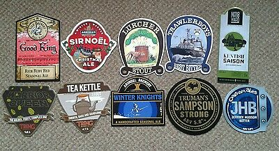 10 Ale Pump Clip Fronts From South Eastern Breweries.