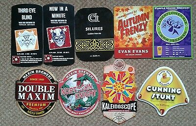 9  Ale Pump Clip Fronts From Welsh and Northern English Breweries.