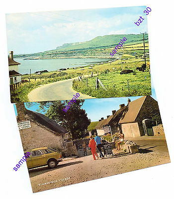 Dorset Kimmeridge X 2 Village and Bay Vintage Could That Be You ?? Not Postd