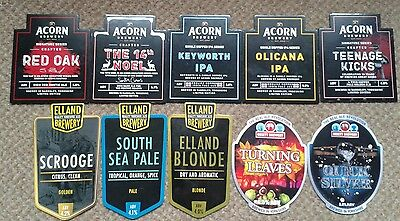 10 Ale Pump Clip Fronts From Yorkshire Breweries.