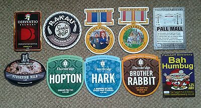 10 Ale Pump Clip Fronts From Derbyshire Breweries.