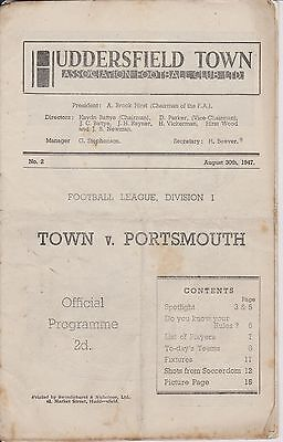 HUDDERSFIELD TOWN v PORTSMOUTH 47-48 LEAGUE MATCH