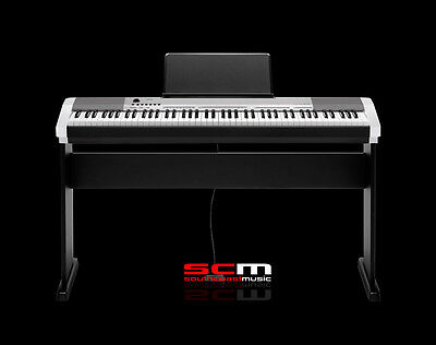 Casio Cdp130 Silver Finish With Wooden Stand 88 Weighted Key Digital Piano