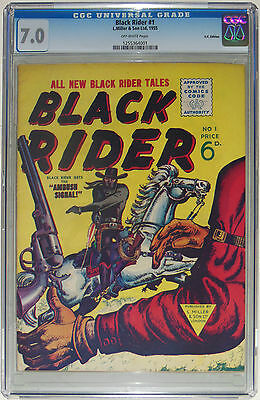 Cgc 7.0 Black Rider #1-1955-Atlas Comics Uk-Joe Maneely-Syd Shores-One & Only!