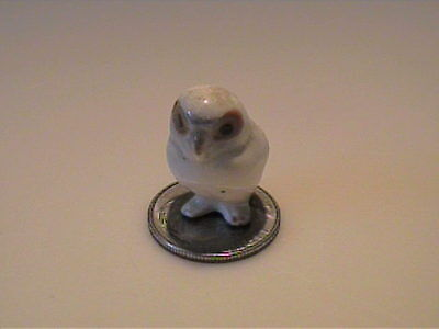 Vintage 1957 Miniature Hagen Renaker Baby Snowy Owl With Orange Eyes