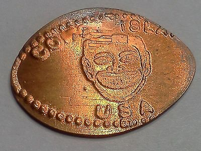 """CONEY ISLAND USA NEW YORK CITY-Elongated / Pressed Penny-""""copper"""" N-69"""