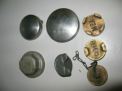 Shell Mex/Pratts Filler caps.assorted/Brass and Steel