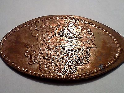 """RAINFOREST CAFE FROG-Elongated / Pressed Penny-""""copper"""" A-254"""