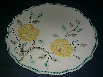 Antique Stoneware H.J. Wood Ltd. Burslem England Embossed Plate.