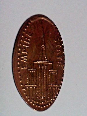 """EMPIRE STATE BUILDING NEW YORK CITY-Elongated / Pressed Penny-""""copper"""" N-61"""