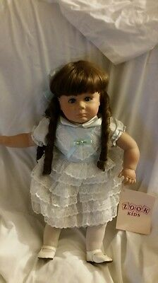 Vintage Zook Doll Rebecca #97 Signed Long Curled locks hair