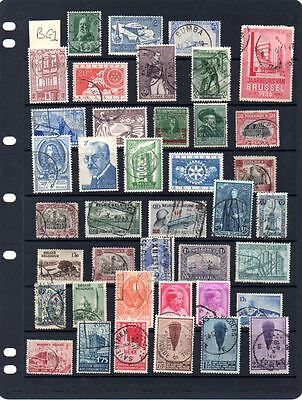 Useful lot of used Belgium stamps Lot BG1