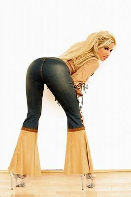 ADULT PORN STAR GINA LYNN photoshoot used SUEDE TOP & DENIM JEANS!