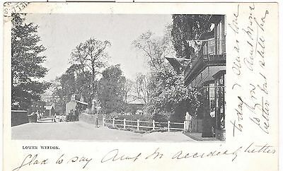 Lower Weedon, early village street scene nr. Northampton, Daventry