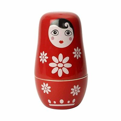 Swift Ceramic Red Russian Doll Measuring Cups Set of 2Colourful Fun Cooking New