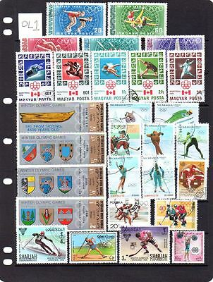 Useful selection of used Olympics sports on stamps. Lot OL1 (4 scans)