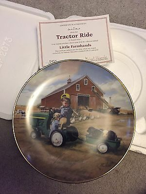 Danbury Mint Tractor Ride Collector Plate