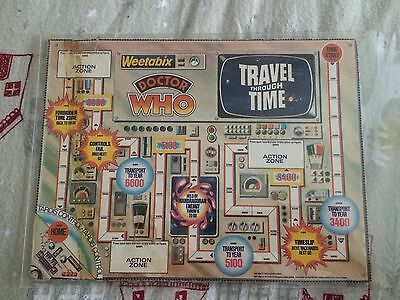 Dr Doctor Who Vintage 70's Weetabix Promotional Box Travel Through Time Game